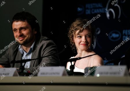 "Olga Shuvalova Actress Olga Shuvalova, right, attends a press conference for the film ""Schastye Moe"", at the 63rd international film festival, in Cannes, southern France"