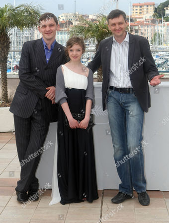 "Viktor Nemets, Olga Shualova, Sergi Loznitsa From left, actor Viktor Nemets, actress Olga Shuvalova and filmmaker Sergi Loznitsa pose during a photo call for the film ""Schastye Moe"", at the 63rd international film festival, in Cannes, southern France"