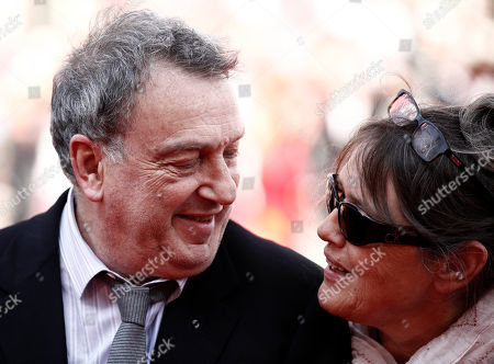 "Stephen Frears, Anne Rothenstein Director Stephen Frears, left, and Anne Rothenstein arrive for the screening of the film ""Tamara Drewe"", at the 63rd international film festival, in Cannes, southern France"