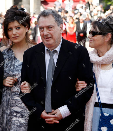 "Stephen Frears, Lola Frears, Anne Rothenstein Director Stephen Frears, center, Lola Frears, left, and Anne Rothenstein arrive for the screening of the film ""Tamara Drewe"", at the 63rd international film festival, in Cannes, southern France"