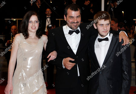 "Kitty Csikos, Kornel Mundruczo, Rudolf Frecska From left, actress Kitty Csikos, director Kornel Mundruczo and actor Rudolf Frecska arrive for the screening of the film ""Tender Son - The Frankenstein Project"", at the 63rd international film festival, in Cannes, southern France"