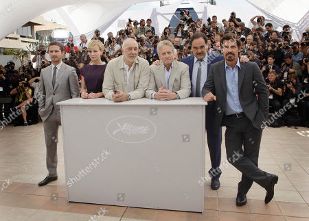 "Shia LaBeouf, Carey Mulligan, Frank Langella, Michael Douglas, Oliver Stone, Josh Brolin From left, actors Shia LaBeouf, Carey Mulligan, Frank Langella, Michael Douglas, director Oliver Stone and actor Josh Brolin pose during a photo call for ""Wall Street: Money Never Sleeps"", at the 63rd international film festival, in Cannes, southern France"