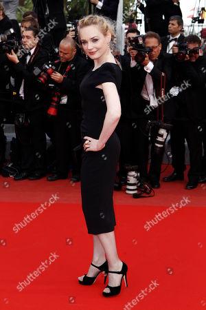 "Esti Ginzburg Esti Ginzburg arrives for the screening of ""Wall Street Money Never Sleeps"", at the 63rd international film festival, in Cannes, southern France"