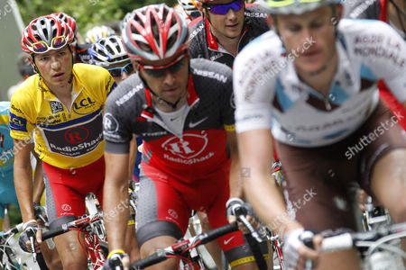 Janez Brajkovic Janez Brajkovic of Slovenia, left, pedals in the pack during the last stage of the 62nd Dauphine Libere cycling race between Allevard-les-Bains and Sallanches, French Alps