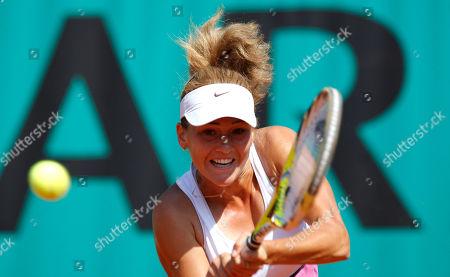 Ekaterina Ivanova Russia's Ekaterina Ivanova returns the ball to Slovakia's Dominika Cibulkova during their first round match of the French Open tennis tournament at the Roland Garros stadium in Paris