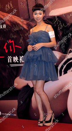 """Fiona Sit Hong Kong actress Fiona Sit poses at a premiere of her new film """" Break up club """" in Hong Kong"""