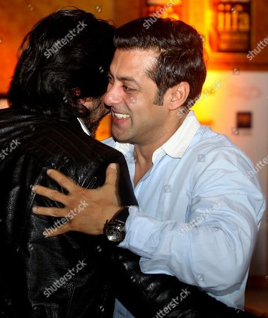 Salman Khan Bollywood actor Salman Khan, right, greets fellow actor Ritesh Deshmukh as he arrives to address a press conference in Mumbai, India, . The news conference was held to promote the International Indian Film Academy (IIFA) weekend and awards which will be held later in the year in Sri Lanka