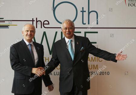 Najib Razak, Fatmir Sejdiu Malaysian Prime Minister Najib Razak, right, welcomes Kosovo President Fatmir Sejdiu to the 6th World Islamic Economic Forum in Kuala Lumpur, Malaysia