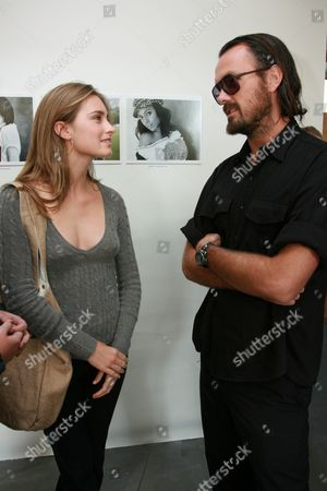 Stock Picture of Lauren Bush and Designer Rogan Gregory