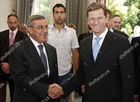 Ali Shami, Guido Westerwelle Lebanese Foreign Minister Ali Shami, left, shakes hands with German Foreign Minister Guido Westerwelle,right, in Beirut, Lebanon, . Westerwelle arrived inBeirut on a two-day visit to meet with Lebanese officials and to visit the German UN peacekeeper task forces