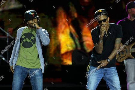 Shay Haley, Pharell Williams Pharell Williams, right, and Shay Haley perform during the World Music Awards, in Monaco