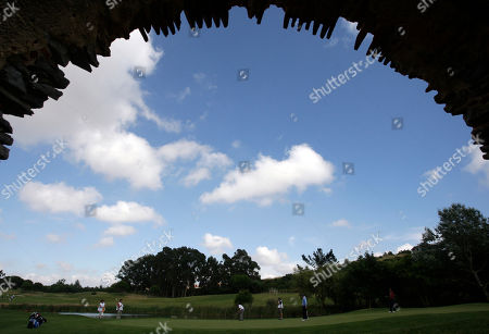 Robert Coles Britain's Robert Coles, third left, putts on the 7th hole during the second round of the Estoril Open golf tournament on in Sintra, Portugal