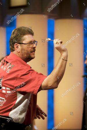 Martin 'Wolfie' Adams the 2007 World Darts Champion takes on the shows resident champion Jordan