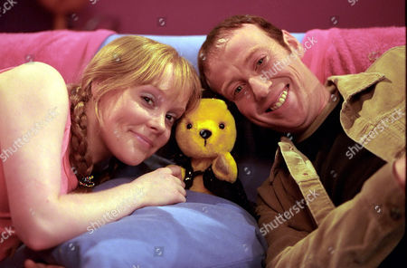 'Sooty Heights' -  Presenters Vicki Lee Taylor and Richard Cadell with Sooty.