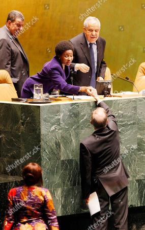 Joseph Deiss Joseph Deiss, lower right, Switzerland's United Nations ambassador, shakes hands with Asha-Rose Migiro, deputy secretary general, on his selection as 65th General Assembly president