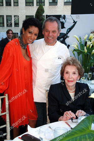 Gelila Assefa, Wolfgang Puck and Nancy Reagan