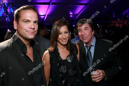 Lachlan Murdoch, Donna Karan and Sandy Gallin