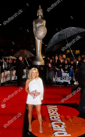 Geri Haliwell Former Spice Girl Geri Haliwell arrives at the Brit Awards 2010 in London, . The awards are the British equivalent of the Grammy's, with most winners selected by a vote of more than 1,000 industry members
