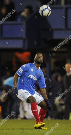 Quincy Owusu-Abeyie Portsmouth's Quincy Owusu-Abeyie watches the ball during their English Premier League soccer match against Birmingham City at the Fratton Park Stadium, Portsmouth, England, . (AP Photo/Tom Hevezi)** NO INTERNET/MOBILE USAGE WITHOUT FOOTBALL ASSOCIATION PREMIER LEAGUE(FAPL)LICENCE. CALL +44