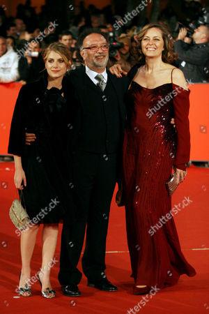 Melanie Laurent, director Alessandro Capone and Greta Scacchi