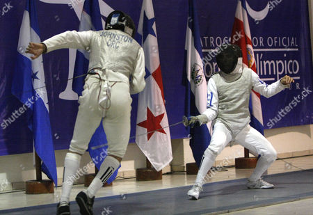 Felipe Bonilla, Jose Esquivel El Salvador's Felipe Bonilla, right, fights against Costa Rica's Jose Esquivel to win gold in the fencing foil category of the IX Central American games in San Salvador