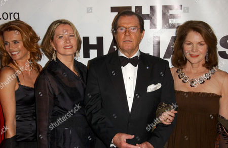 Stock Image of Serena Scott Thomas, Maud Adams, Roger Moore and Lois Chiles