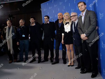 Mike Medavoy, Arnold W. Messer, Mark Ruffalo, Bradley J. Fischer,Sir Ben Kinsley, Michelle Williams, Martin Scorsese, Leonardo DiCaprio From left U.S. producers Mike Medavoy, Arnold W. Messer, U.S. actor Mark Ruffalo, U.S. producer Bradley J. Fischer, British actor Sir Ben Kinsley, U.S. actress Michelle Williams, U.S. director Martin Scorsese and U.S. actor Leonardo DiCaprio pose at the photo call for the film 'Shutter Island' at the International Film Festival Berlinale in Berlin, Germany