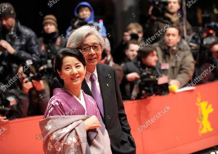 Yoji Yamada, Sayuri Yoshinaga Japanese director Yoji Yamada and actress Sayuri Yoshinaga arrive for the screening of their movie 'About Her Brother' at the awarding ceremony of the International Film Festival Berlinale in Berlin, Germany