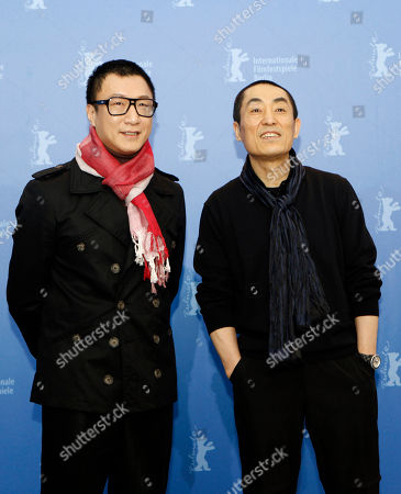 Sun Honglei, Zhang Yimou Chinese actor Sun Honglei, left, and director Zhang Yimou pose at the photo call for the film 'A Woman, A Gun, and A Noodle Shop' at the International Film Festival Berlinale inBerlin, Germany