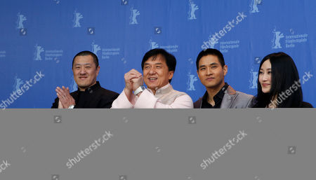 Ding Sheng, Jackie Chan, Steve Yoo, Peng Lin From left, director Ding Sheng and actors Jackie Chan, Steve Yoo and Peng Lin pose at the photo call for the film 'Little Big Soldier' at the International Film Festival Berlinale in Berlin, Germany