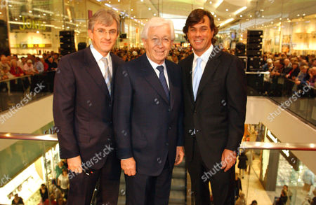 Steven, Frank, and Peter Lowy opening the Westfield Shopping Centre