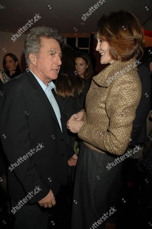 Stock Picture of Dustin Hoffman and Tessa Dahl