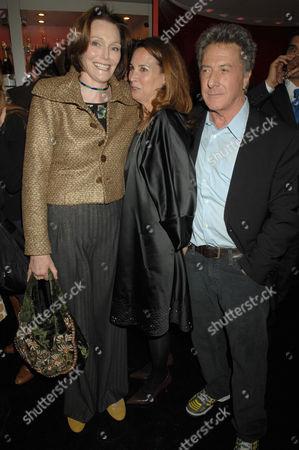 Tessa Dahl, Dustin Hoffman and Lisa Hoffman