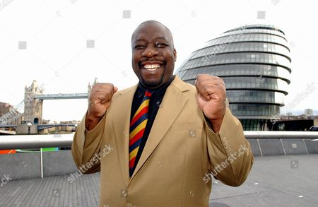 Gary Mason the former boxer who is standing to be Mayor of London, City Hall, London, Britain