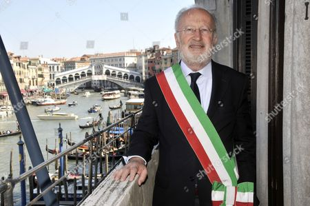 Taken on April 8, 2010, Venice's mayor Giorgio Orsoni is pictured at Ca Farsetti palace in Venice, Italy. Venice's mayor has resigned amid a corruption scandal a day after being released from house arrest under a plea deal. Mayor Giorgio Orsoni announced his resignation, indicating a lack of support from the Democratic Party since his arrest last week in a wide-ranging corruption probe related to construction of underwater barriers to protect the lagoon city from flooding