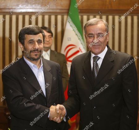 Mahmoud Ahmadinejad Ali Shami Iranian President Mahmoud Ahmadinejad, left, shakes hands with Lebanese Foreign Minister Ali Shami, at the start of their meeting at the sideline of the International Conference on Disarmament and Non-Proliferation, in Tehran, Iran