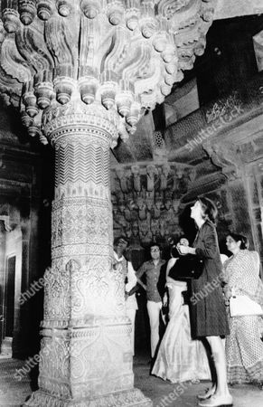 Nancy Kissinger Mrs. Nancy Kissinger, wife of the U.S. Secretary of State Henry Kissinger, visited the Cabinet room of Akbar, the Great Mogul in his 16th century Capital which he built 120 miles South of Delhi at Fatehpur Sikri, India in an undated photo
