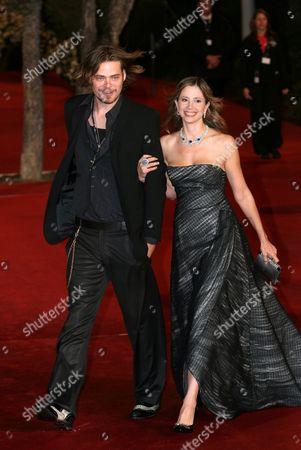 Mira Sovino and husband Chris Backus