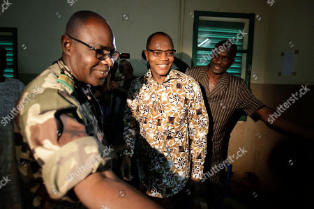 Salou Djibo, Mohammed Ibn Chambas Salou Djibo, left, leader of the military junta which overthrew the nation's strongman president days earlier, welcomes ECOWAS President Mohammed Ibn Chambas, center, as the ruling junta meets with envoys from the U.N., African Union., and ECOWAS, in central Niamey, Niger