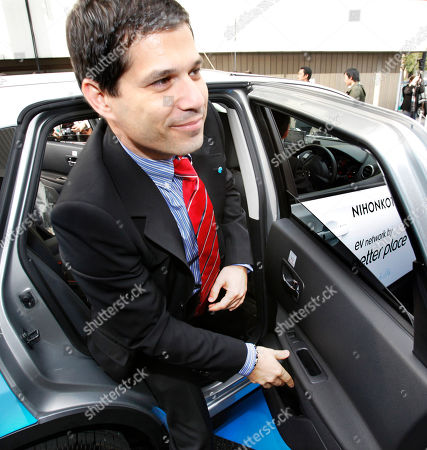 Shai Agassi California-based electric-vehicle services provider Better Place Chief Executive Shai Agassi gets off an electric vehicle taxi during the opening ceremony of a battery switch station in Tokyo, Japan