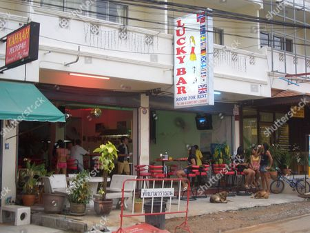The Lucky Bar in Pattaya,  where Johnny Briggs picked up a prostitute named 'Yo' and spent the night with her at the nearby hotel