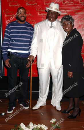 Wayne Barrow, The Notorious B.I.G. (Wax Figure) with mother Voletta Wallace