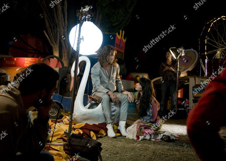 """Natalia Oreiro, Mike Amigorena Uruguay's actress Natalia Oreiro, right, and Argentine actor Mike Amigorena rehearse before shooting a scene for the film """"Miss Tacuarembo,"""" directed by Uruguay's Martin Sastre, in Montevideo, late"""