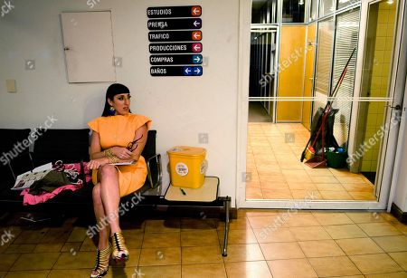 """Rossy De Palma Spain's actress Rossy De Palma sits as she waits to shoot a scene in the film """"Miss Tacuarembo,"""" directed by Uruguay's Martin Sastre, in Montevideo"""
