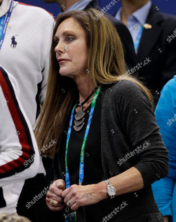 U.S. figure skater Peggy Fleming, the 1968 Olympic women's figure skating champion, attends the short program figure skating pairs competition at the Vancouver 2010 Olympics in Vancouver, British Columbia