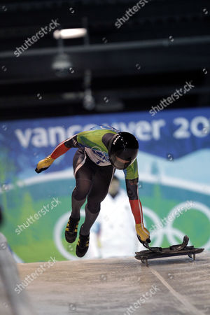 Michi Halilovic Michi Halilovic of Germany in action during the men's skeleton competition at the Vancouver 2010 Olympics in Whistler, British Columbia