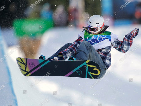Gretchen Bleiler of the USA compete in the women's snowboard halfpipe at the Vancouver 2010 Olympics in Vancouver, British Columbia