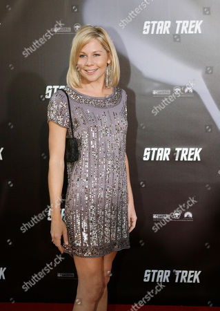 Stock Photo of Gigi Edgley arrives at the world premier of the movie Star Trek at the Sydney Opera House, Sydney, Australia