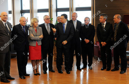 Jose Manuel Barroso, Jacques Barrot, Danuta Hubner European Union Commission President Jose Manuel Barroso, fifth from left, is seen posing for photographers among the Presidents of the Regions of France at the EU Commission headquarters in Brussels, . Second from left is EU Commissioner for Justice, Freedom and Security Jacques Barrot from France, and third from left, is EU Commissioner for Regional Policy Danuta Hubner from Poland