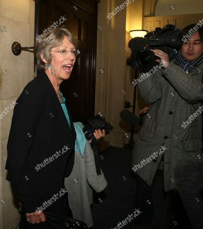 Patricia Hewitt British former cabinet minister Patricia Hewitt speaks to media as she leaves a television studio in London, . Beleaguered British Prime Minister Gordon Brown is facing a leadership challenge from within his own party, just months before a national election. Two former members of Brown's Cabinet Patricia Hewitt and Geoff Hoon have written to Labour Party lawmakers calling for a secret ballot on Brown's leadership